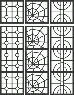 Floral Screen Patterns Design 96 Free DXF File