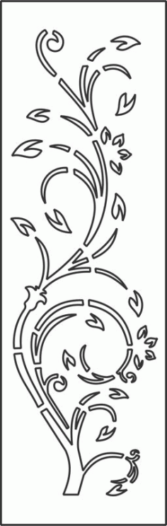 Floral Vector Art Free DXF File