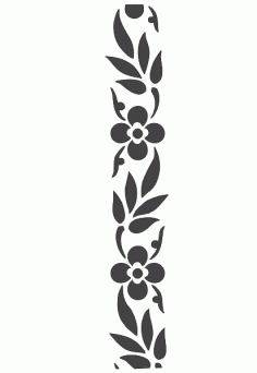 Flower Carving Stencil Silhouette Wall Art Free DXF File