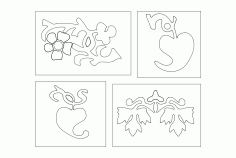Flower Designs Simple Free DXF File