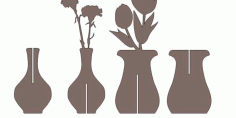 Flower Pot Free DXF File