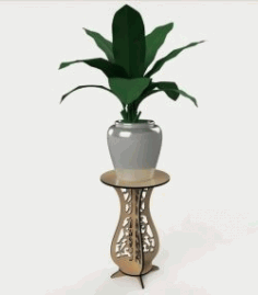 Flower Pot Shelf For Laser Cut Cnc Free DXF File