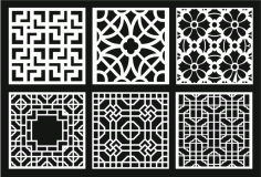 Grill Design Pattern Decoration 10 Free DXF File