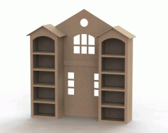 Home Shape Shelf Free DXF File