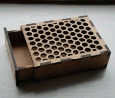 Honeycomb Hole Box Model For Laser Cut Cnc Free DXF File