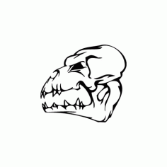Horror Skull Bird Head 003 Free DXF File