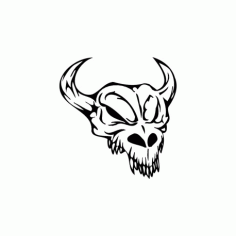 Horror Skull Bird Head 009 Free DXF File