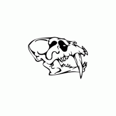 Horror Skull Bird Head 011 Free DXF File