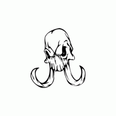 Horror Skull Bird Head 013 Free DXF File
