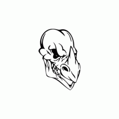Horror Skull Bird Head 016 Free DXF File