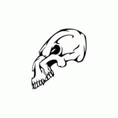 Horror Skull Bird Head 017 Free DXF File