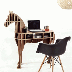 Horse Shaped Bookshelf Free DXF File
