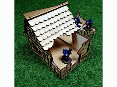 House Ruin Free DXF File