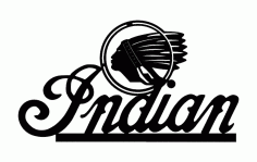 Indian Logo Free DXF File