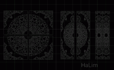 Islamic Pattern Door Free DXF File