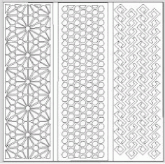 Jali Pattern Design Decor 696 Free DXF File
