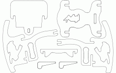Kids Chair Puzzle Free DXF File