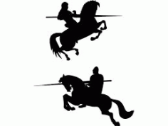 Knight On Horse Free DXF File