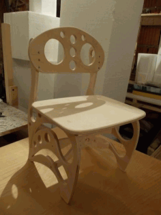 Laser Cnc Cut High Chair Free DXF File