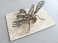 Laser Cut 3d Puzzle Bee Puzzle Template Free DXF File