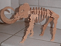 Laser Cut 3d Puzzle Mammoth Template Free DXF File
