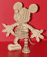 Laser Cut 3d Puzzle Mickey Mouse Template Free DXF File