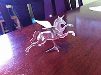 Laser Cut 3d Puzzle Nested Pegasus Template Free DXF File