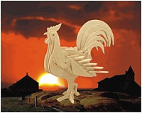 Laser Cut 3d Puzzle Rooster Template Free DXF File