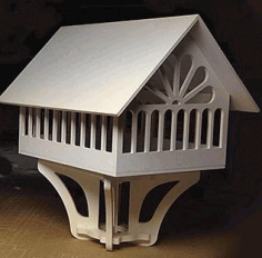 Laser Cut Bird House Free DXF File