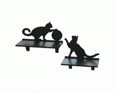 Laser Cut Cnc Project Cat Shaped Rack Free DXF File