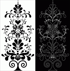 Laser Cut Decorative Floral Pattern Free DXF File
