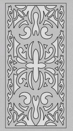 Laser Cut Decorative Pattern Panel Screen Art Free DXF File