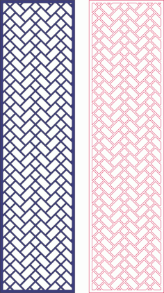 Laser Cut Decorative Screen Geometric Pattern Free DXF File