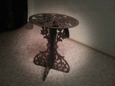 Laser Cut Decorative Table Free DXF File