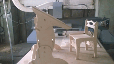 Laser Cut Desk And Chair Free DXF File