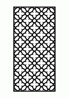 Laser Cut Door Panel Free DXF File