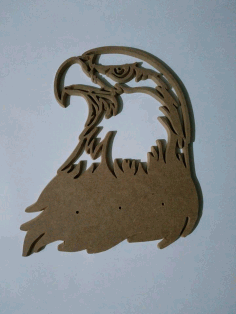 Laser Cut Engraved Art Eagle In Wood Free DXF File