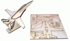 Laser Cut f-14 Fighter Jet Aircraft Free DXF File