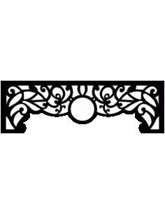 Laser Cut Floral Border Design 8 Free DXF File