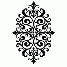 Laser Cut Floral Pattern Wallpaper Free DXF File