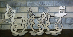 Laser Cut Flower Stand Free DXF File