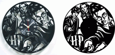 Laser Cut Harry Potter Vinyl Record Clock Free DXF File