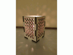 Laser Cut Lamp Box 70x70x80 Free DXF File