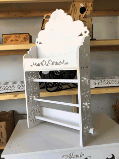 Laser Cut Paper Rack Paper Shelf Storage Free DXF File