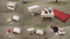 Laser Cut Picnic Table Free DXF File