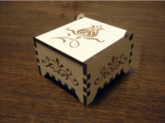 Laser Cut Small Wooden Box Trinket Box Free DXF File