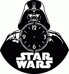 Laser Cut Star Wars Vinyl Clock Template Free Vector File