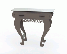 Laser Cut Table With Drawer Free DXF File