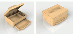 Laser Cut Template Drawer Box Free DXF File