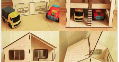 Laser Cut The House And Garage For Two Cars Free DXF File